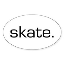 Skate Oval Decal