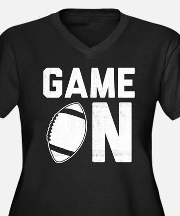 Game On Women's Plus Size V-Neck Dark T-Shirt