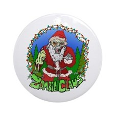 Zombie Claus Ornament (Round)