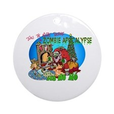 Twas the Night Before Zombie Ornament (Round)