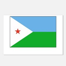 Djibouti Flag Picture Postcards (Package of 8)