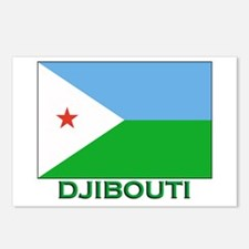 Djibouti Flag Stuff Postcards (Package of 8)