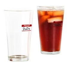 Cute Nametag Drinking Glass