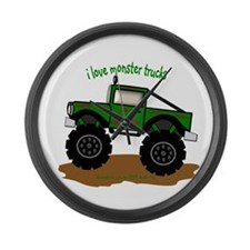 MONSTER TRUCK - LOVE TO BE ME Large Wall Clock