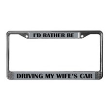 Id Rather Be License Plate Frame