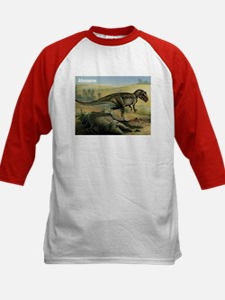Allosaurus Dinosaur (Front) Kids Baseball Jersey