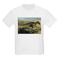 Allosaurus Dinosaur (Front) Kids T-Shirt