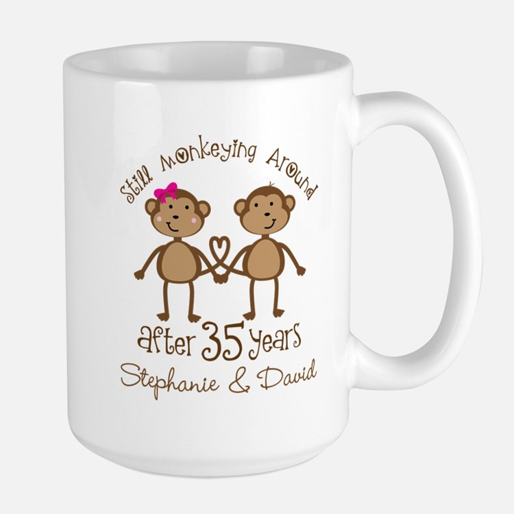 35th Anniversary Personalized Gift Mugs