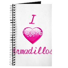 I Love/Heart Armadillos Journal