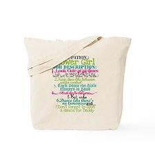 Funny Flower girl Tote Bag