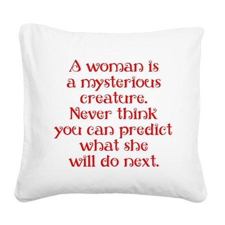 Mysterious Creature Square Canvas Pillow