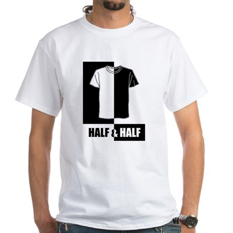 Half n Half T-shirt White T-Shirt