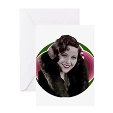 Art deco woman in fur coat Greeting Card