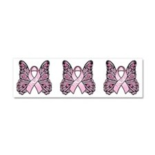 Pink Hope Butterfly Car Magnet 10 x 3