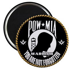 Masonic POW/MIA WARRIOR Magnet