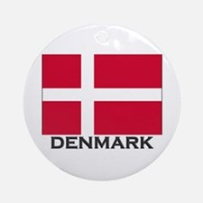 Denmark Flag Gear Ornament (Round)