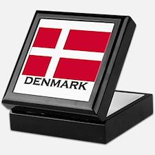 Denmark Flag Gear Keepsake Box