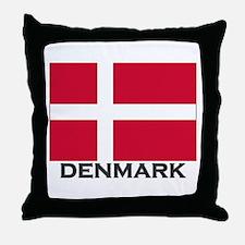 Denmark Flag Gear Throw Pillow