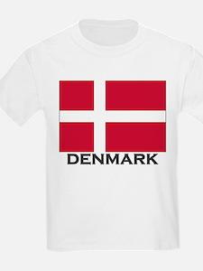 Denmark Flag Gear Kids T-Shirt
