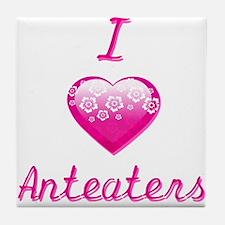 I Love/Heart Anteaters Tile Coaster