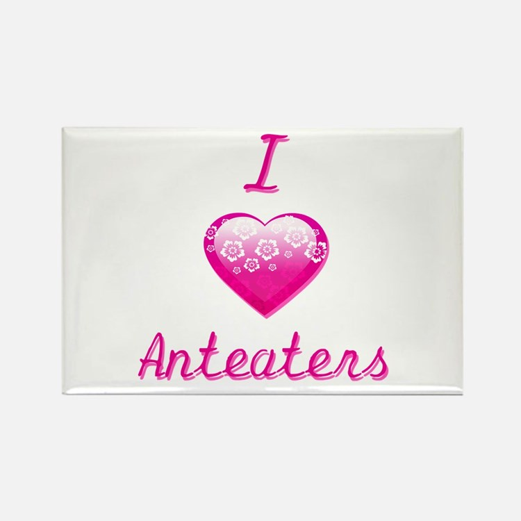I Love/Heart Anteaters Rectangle Magnet