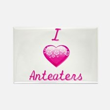 I Love/Heart Anteaters Rectangle Magnet (10 pack)