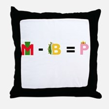 The Mario Equation Throw Pillow
