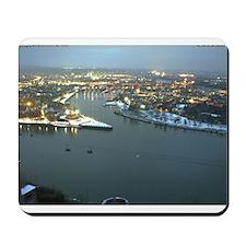 Rhine river & Mosel winter Mousepad