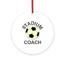 Soccer Stadium Coach Ornament (Round)