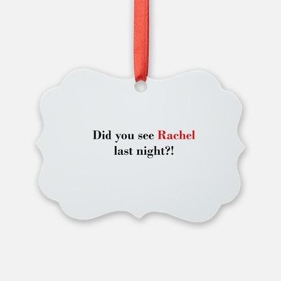 Rachel Fan Ornament
