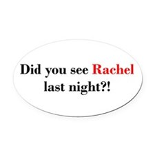 Rachel Fan Oval Car Magnet