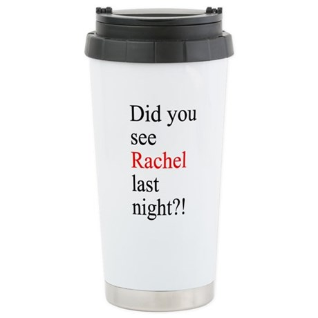 Rachel Fan Stainless Steel Travel Mug