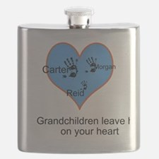 Personalized handprints Flask