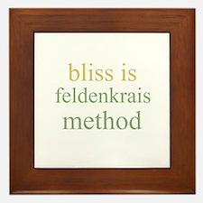 bliss is FELDENKRAIS METHOD  Framed Tile