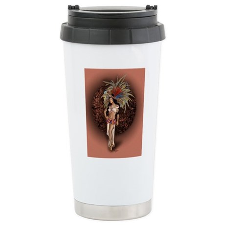 Aztec Princess Pin-Up Stainless Steel Travel Mug