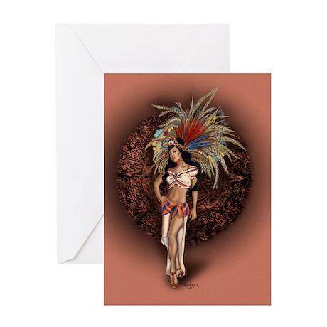 Aztec Princess Pin-Up Greeting Card