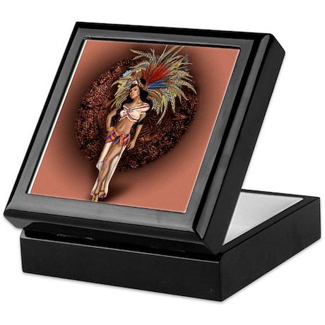 Aztec Princess Pin-Up Keepsake Box