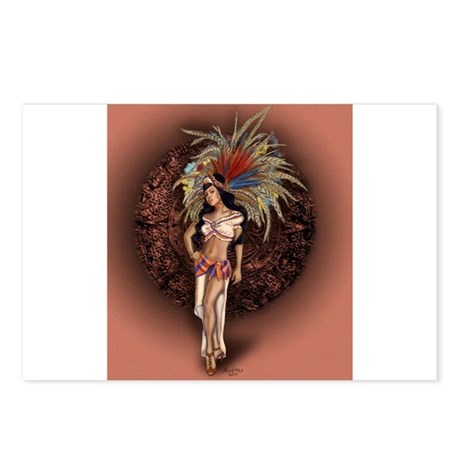 Aztec Princess Pin-Up Postcards (Package of 8)