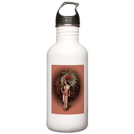 Aztec Princess Pin-Up Stainless Water Bottle 1.0L
