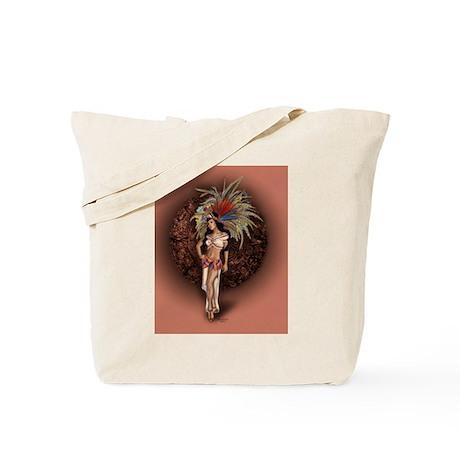 Aztec Princess Pin-Up Tote Bag