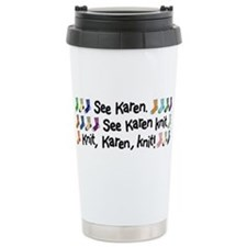 Funny Knitting tote Travel Mug