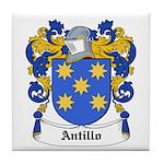 Antillo Coat of Arms Tile Coaster