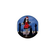 Dia de los Muertos Pin-up Mini Button