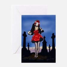 Dia de los Muertos Pin-up Greeting Card