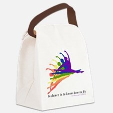 Rainbow Jete Canvas Lunch Bag