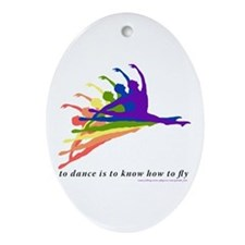 Rainbow Jete Ornament (Oval)