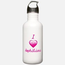 I Love/Heart Amphibians Water Bottle