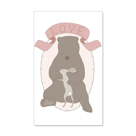 Bear Hug 20x12 Wall Decal