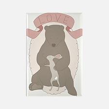 Bear Hug Rectangle Magnet