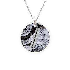 Clarinet Necklace Circle Charm